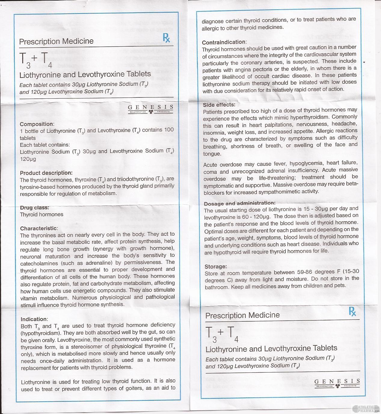 T3-T4 genesis инструкция (вкладыш)