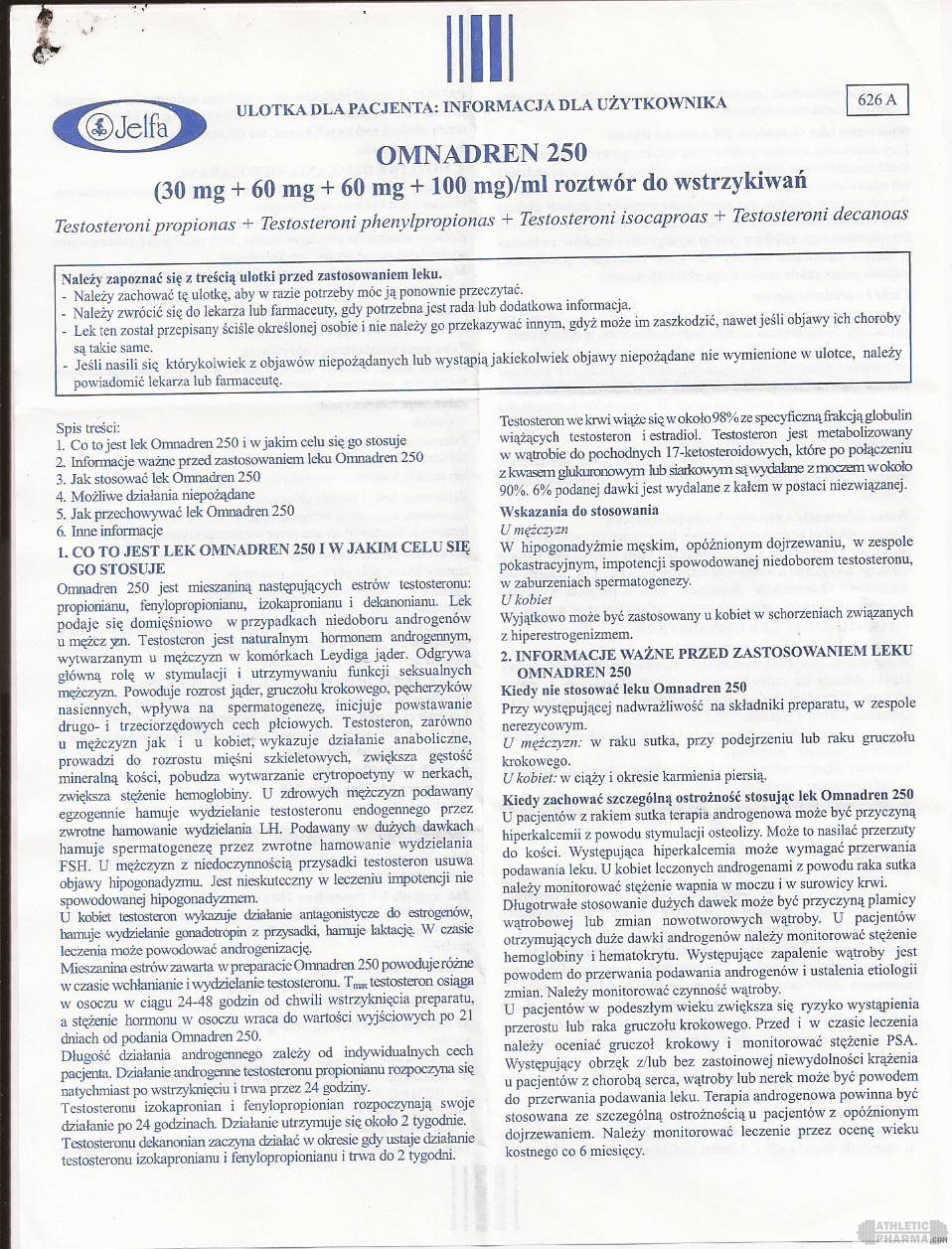 Omnadren 250 инструкция-1 (вкладыш)