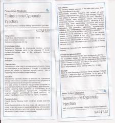 Testosterone Cypionate Injection genesis инструкция (вкладыш)