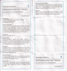Methyltestosterone Tablets genesis инструкция (вкладыш)