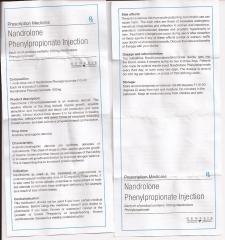 Nandrolone Phenylpropionate Injection genesis инструкция (вкладыш)