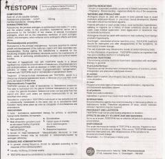 Testopin-100 (2ml) инструкция (вкладыш)