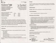 Sustanon 250 Пакистан инструкция (вкладыш)