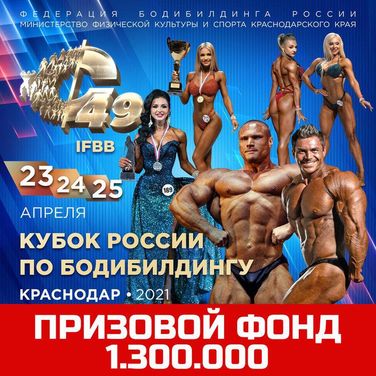 Афиша Кубка России по бодибилдингу 2021