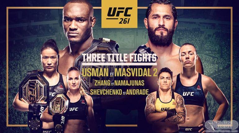 Постер турнира UFC 261 (ММА)