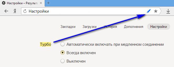 Режим Турбо у Яндекса