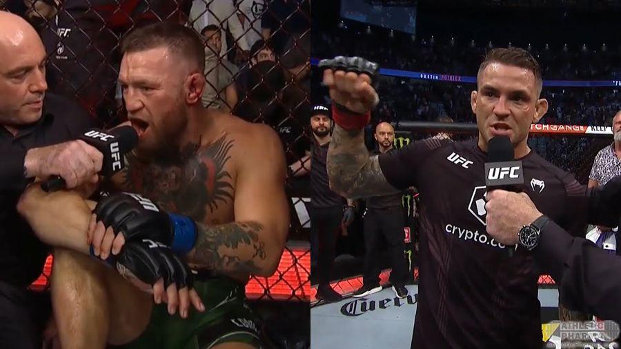 МакГрегор и Порье после боя на UFC 264