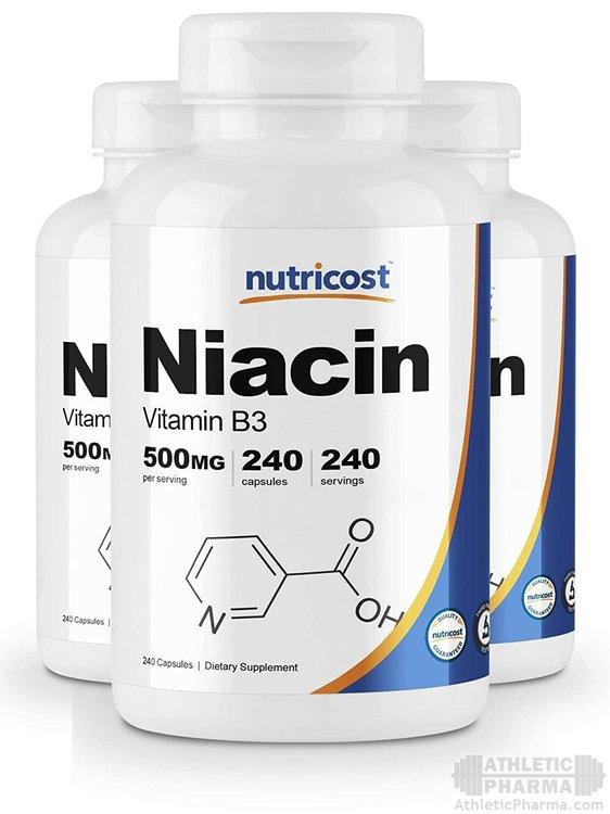 Витамин B3 (ниацин) в капсулах