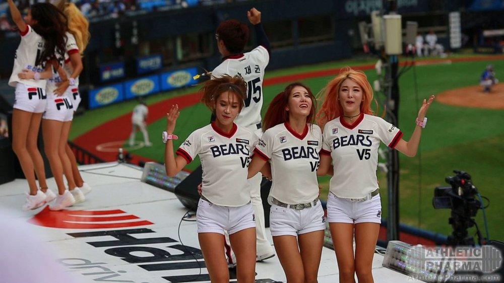 Фанатки бейсбола из Кореи