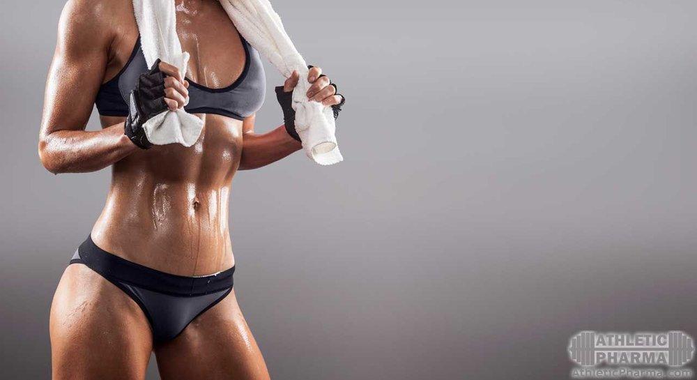 Спортивная фигура, мышцы девушки